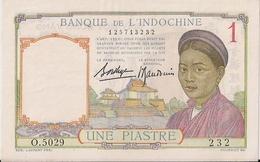 FRANCE-INDOCHINA=N/D    1  PIASTRE      P-92     UNC - Territoires Français Du Pacifique (1992-...)