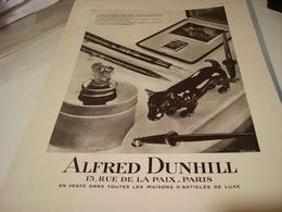 ANCIENNE PUBLICITE PORTE PLUME ALFRED DUNHILL 1930 - Tabac (objets Liés)