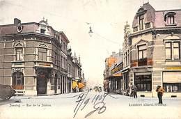 Seraing - Rue De La Station (animée, Colorisée, Café Dentiste, Agent De Change 1904, Lambert Allard) - Seraing