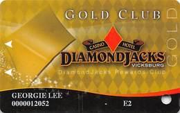 Diamond Jack's Casino Vicksburg, MS - Slot Card - Copyright 2010 - Casino Cards