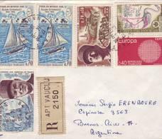 LETTRE D'APT VAUCLUSE POUR ARGENTINE 1970 - Marcophilie (Lettres)