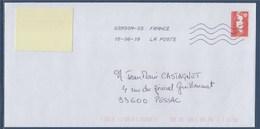 Enveloppe Avec Faux Timbre 15.06.18 Marianne De Briat Type Du 2807= - 1989-96 Bicentenial Marianne