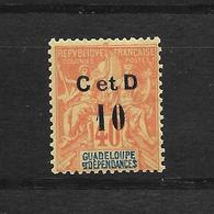 GUADELOUPE TYPE GROUPE N° 46h NEUF * - COTE = 40.00 € - Guadeloupe (1884-1947)