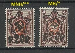 RUSSIA Soviet Union 1922 Michel 203 A I + 203 A II MNH/MH - 1917-1923 Repubblica & Repubblica Soviética