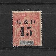 GUADELOUPE TYPE GROUPE N° 47c NEUF * - COTE = 31.00 € - Guadalupe (1884-1947)