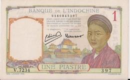 FRANCE-INDOCHINA=N/D     1  PIASTRE      P-92  Red      UNC - Territoires Français Du Pacifique (1992-...)