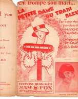 CAF CONC CHEMIN DE FER COQUIN PARTITION ON TROMPE SON MARI DAME DU TRAIN BLEU MARIE DUBAS PARES PARYS LIGNEREUX ILL ERNY - Music & Instruments