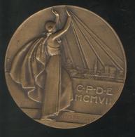 Médaille CPDE Compagnie Parisienne De Distribution D'Electricité 1907 - Art Déco 1932 - Professionals / Firms