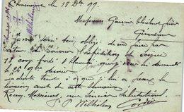 52 CHAUMONT - Maison Lignée - Pwilhélem Successeur   (oblitération , Entiers Postaux) (recto Verso En Vert ) - Postmark Collection (Covers)