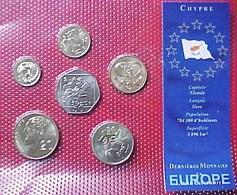 CHYPRE , SET De 6 PIECES Dernières Monnaies CHYPRIOTES ANNEE 2004 , NEUVES , UNC, Sous Plastique De Protection , CYPRUS - Chypre
