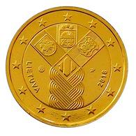 LITUANIE 2018 - ETATS BALTES - 2 EUROS COMMEMORATIVE PLAQUÉE OR + CAPSULE - Lituania
