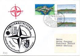 """(BWH2) BRD Cachetumschlag Bundeswehr HEER """"Gebirgs-Sanitätsbataillon 8, FAMILIENBETREUUNG"""" SSt 19.4.1996 MÜNCHEN 2 - Storia Postale"""