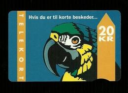 Carta Telefonica Danimarca - Pappagallo Da 20 KR Trykdato 31 12 95 -  Carte Telefoniche@Scheda@Schede@Phonecards@Telecar - Denmark