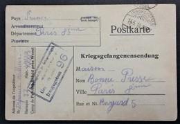 CP Prisonnier De Guerre Camp De FRIEDRICHSFELD Avril 1918 Vers Maison De La Bonne Presse Paris - Storia Postale