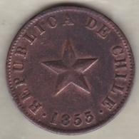 Chile. 1 Centavo 1853 . Copper. KM# 127 - Chile