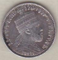 ETHIOPIE . GERSH EE 1895 A (1903) . MENELIK II . ARGENT - Ethiopia