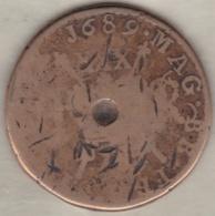 Irlande Civil War, 1/2 Crown 1689, JAMES II, Brass, KM# 95 - Irlande