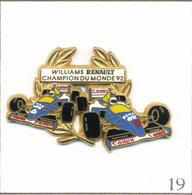 Pin's Automobile - Formule 1 / Renault N° 5 & 6 / Champion Du Monde 1992. Est. Arthus Bertrand Paris. T602-19 - F1