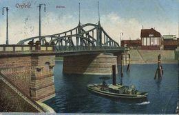 CREFELD, Hafen (1924) AK - Krefeld
