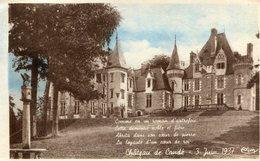 MONTS - Château De Candé Où Fut Célébré Le Mariage Du Duc De Windsor Et De Mrs Warfield 3 Juin 1937 - Autres Communes