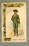 Chromo Cie Française Chasseur à Cheval 1786 Militaire Military Mounted Huntsman - Other