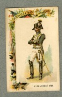 Chromo Cie Française Cuirassiers 1791 Militaire Military Cavalry Old Trade Card - Other