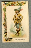 Chromo Cie Française Cuirassiers 1633 Militaire Military Cavalry Old Trade Card - Other