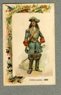 Chromo Cie Française Cuirassiers 1690 Militaire Military Cavalry Old Trade Card - Other