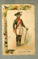 Chromo Cie Française Cuirassiers 1786 Militaire Military Cavalry Old Trade Card - Other
