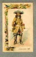 Chromo Cie Française Cuirassiers 1670 Militaire Military Cavalry Old Trade Card - Other