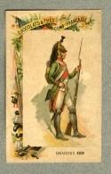 Chromo Cie Française Dragon 1805 Bayonette Militaire Military Dragoon Bayonet - Other