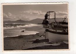 CP 10*15-ZC1649-CANET PLAGE BARQUE EQUIPEE POUR LA PECHE AU LAMPARO 1962 - Canet Plage