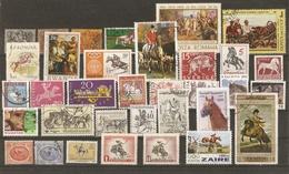 Cheval - Petit Lot De 153° - Equitation - Hippisme - Diligence - Malle-poste - Zodiaque - Ferme - Agriculture - 6 Scans - Timbres