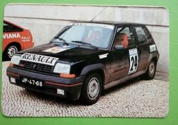 Calendrier De Poche. Renault 5  GT Turbo.Portugal 1987 - Calendarios
