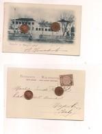 2477) CINA CHINA SHANGHAI 1901 CARD HOTEL ASTOR HOUSE STAMP COVER - Cina