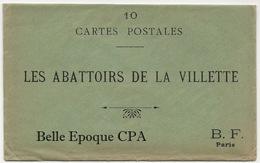75 - PARIS 19 - Les Abattoirs De La Villette / X10 CPA - SÉRIE COMPLÈTE Avec Pochette D'origine ++++ BF +++ Parfait état - Petits Métiers à Paris