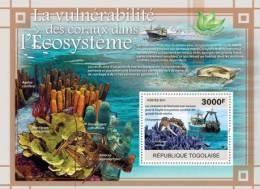 TOGO 2011 - Vulnerability Of Corals - YT BF463; CV=17 € - Umweltverschmutzung