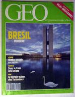 """{10186} GEO N° 120, 1989, Un Nouveau Monde: La Terre. Hambourg Norvège Namibie Inde Brésil Iran Turkmènes """" En Baisse """" - Geography"""