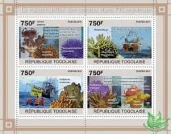 TOGO 2011 - Vulnerability Of Corals - YT 2440-3; CV=17 € - Umweltverschmutzung