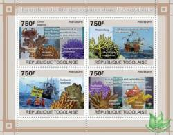 TOGO 2011 - Vulnerability Of Corals - YT 2440-3; CV=17 € - Pollution
