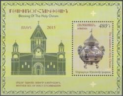 "Armenia 2015 ""Blessing Of The Holy Chrism.The Cauldron Of Holy Chrism 1895 "" SS Quality:100% - Armenia"