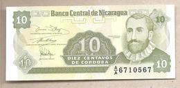 Nicaragua - Banconota Non Circolata FdS Da 10 Centesimi Di Cordoba P-169a.1 - 1991 - Nicaragua