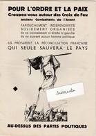 Fascicule Politique 16 Pages Croix De Feu / Briscards / Volontaires Nationaux / Nationalisme / R N Flamme - 1939-45