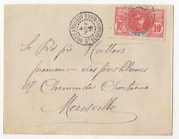 LETTRE DE OUAGADOUGOU DE 1909 POUR MARSEILLE - Upper Senegal And Nigeria (1904-1921)