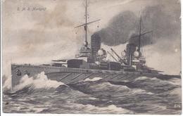 S M S - Markgraf  - Feldpost 1918  - AK 11.236 - Guerra 1914-18
