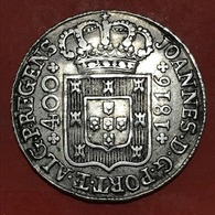 CRUZADO NOVO -400 RÉIS 1816 SILVER  D.JOÃO  «PRINCIPE REGENTE» - Portugal