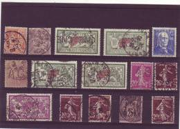TIMBRES PERFORES LOT  DONT SAGE MERSON ET SEMEUSE - Perfins