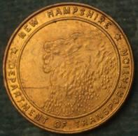 """M_p> Stati Uniti """" NEW HAMPSHIRE DEPARTMENT OF TRANSPORTATION """" - Monedas/ De Necesidad"""