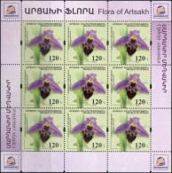 "Rep.of Artsakh.2017 Flora Of Artsakh ""Caucasian Orchid "" Sheet. Quality:100% - Armenia"