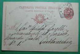 1888 ITALIA Cartolina Postale - Postal Stationery 10 Centessimi, Seals: TORRINO FEROVIE, CIVITAVECCHIA ROMA - Entero Postal